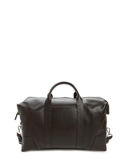 Shinola - Black Signature Leather Duffel Bag - for Men - Lyst