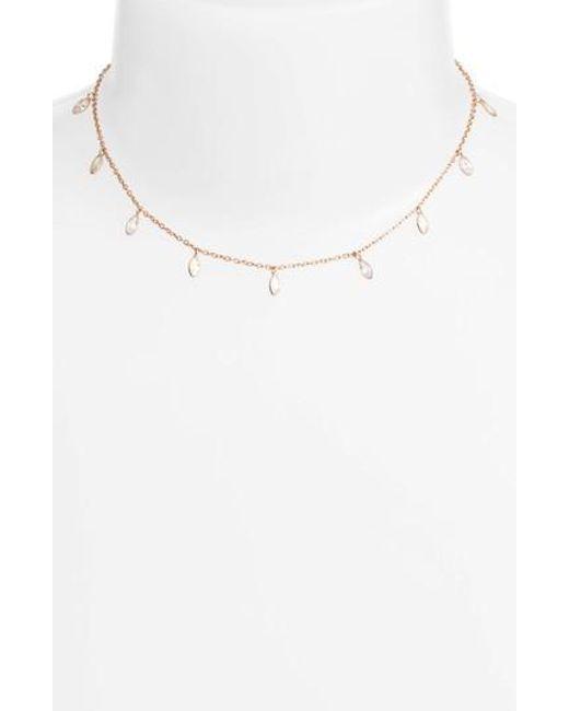 Chan Luu   Metallic Crystal Short Necklace   Lyst