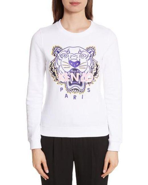33b4ef81 Women's White Classic Tiger Sweatshirt
