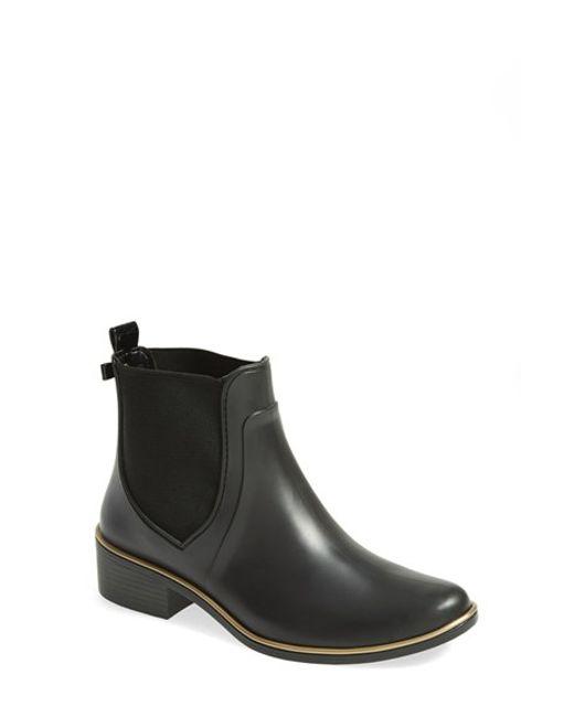 kate spade new york | Black 'sedgewick' Rubber Rain Boot | Lyst