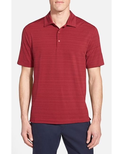Cutter & Buck | Red 'highland Park' Drytec Golf Polo for Men | Lyst