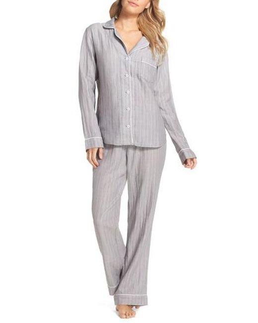 Ugg - Gray Ugg Raven Stripe Pajamas - Lyst