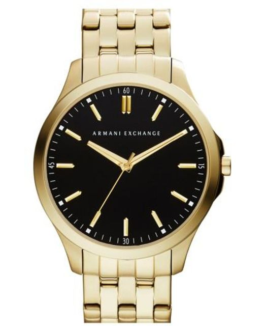 Armani Exchange | Metallic Round Bracelet Watch for Men | Lyst
