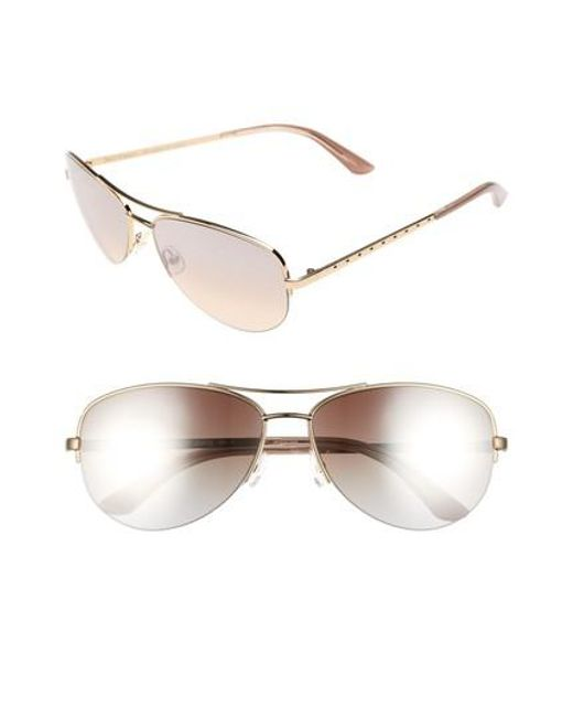 Juicy Couture - Metallic Shades Of Couture By 60mm Gradient Aviator Sunglasses - Light Gold - Lyst