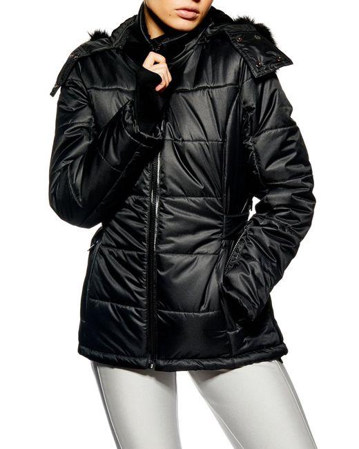 TOPSHOP - Black Sno Baby Ski Jacket - Lyst