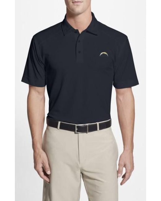Cutter & Buck - Blue 'san Diego Chargers - Genre' Drytec Moisture Wicking Polo for Men - Lyst