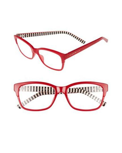 Kate Spade | Tenil 52mm Reading Glasses - Milky Red | Lyst