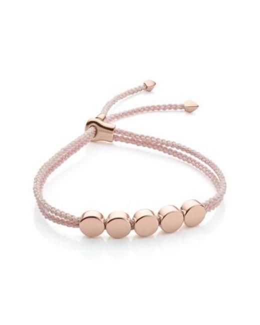 Monica Vinader   Pink Friendship Bracelet   Lyst