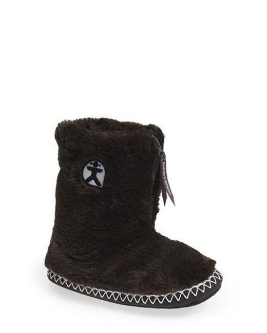 Bedroom Athletics | Black 'marilyn' Faux Fur Slipper Boot | Lyst