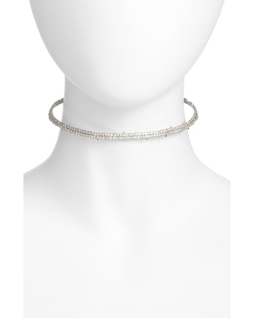 Alexis Bittar - Metallic Encrusted Spike Choker Necklace - Lyst