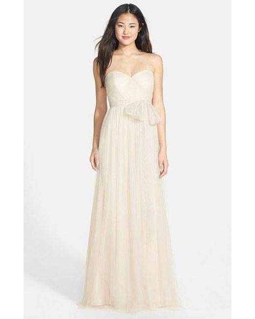 Jenny Yoo | Natural 'annabelle' Convertible Tulle Column Dress | Lyst
