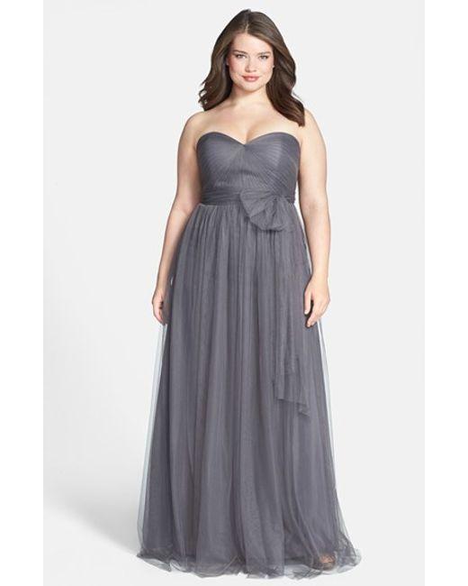 Jenny Yoo | Gray 'annabelle' Convertible Tulle Column Dress | Lyst
