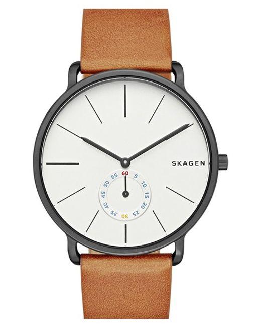 Skagen | Brown Hagen Leather Strap Watch for Men | Lyst