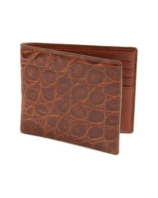 Boconi | Brown Crocodile Wallet for Men | Lyst