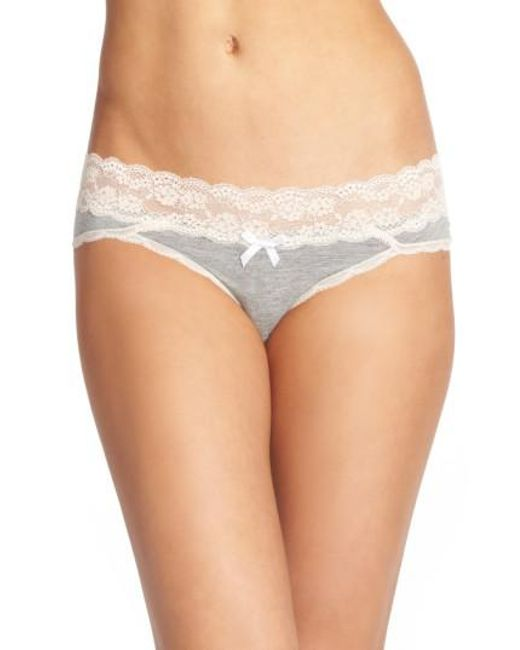 Honeydew Intimates | Gray Lace Waistband Hipster Panties | Lyst