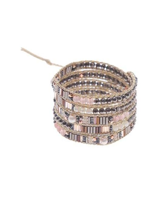 Nakamol Multicolor Crystal Beaded Wrap Bracelet Lyst