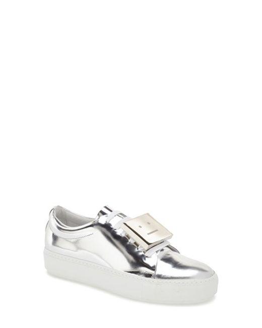 Acne | Multicolor 'adriana' Silver Metallic Sneaker | Lyst