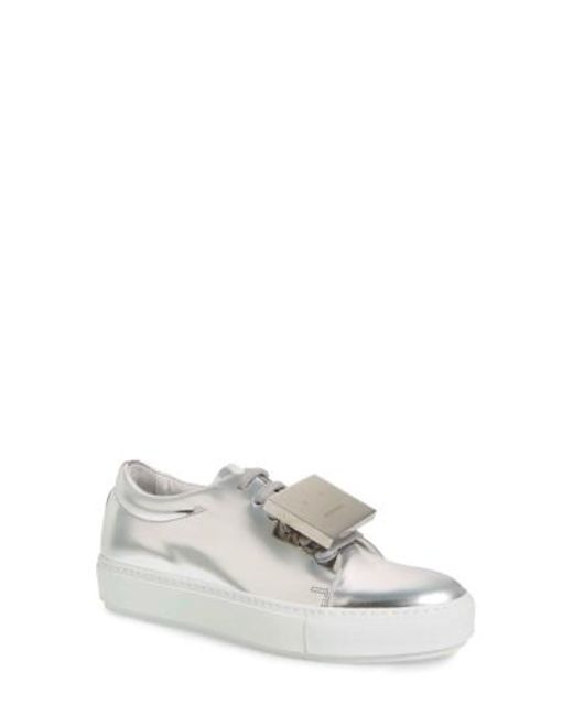 Acne | Metallic Adriana Patent Leather Sneakers | Lyst