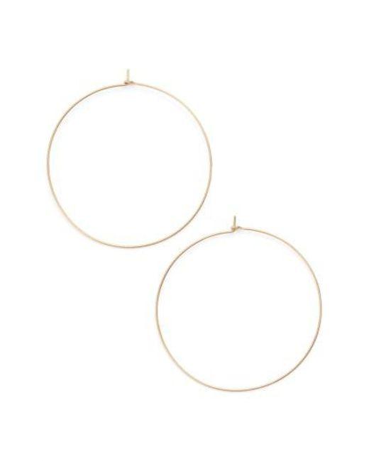 Nashelle | Metallic Extra Large Hoop Earrings | Lyst