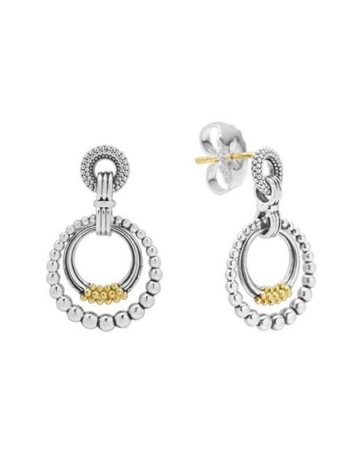 Lagos | Metallic Caviar 'superfine' Two-tone Door Knocker Earrings | Lyst