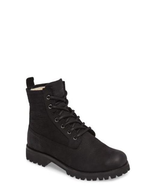 Blackstone - Black Ol22 Lace-up Boot With Genuine Shearling Lining for Men - Lyst