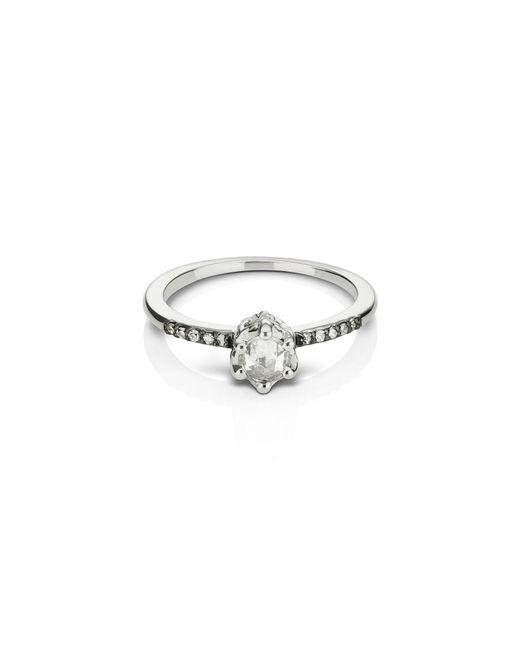 Maniamania - Metallic Entity Diamond Solitaire Ring - Lyst