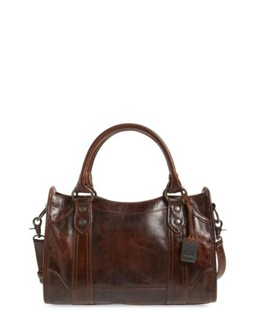 Frye - Brown 'melissa' Washed Leather Satchel - Lyst