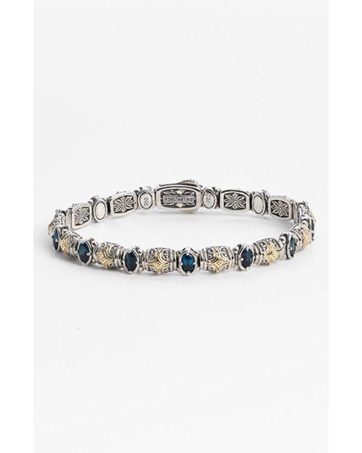 Konstantino | Metallic 'hermione' Line Bracelet | Lyst