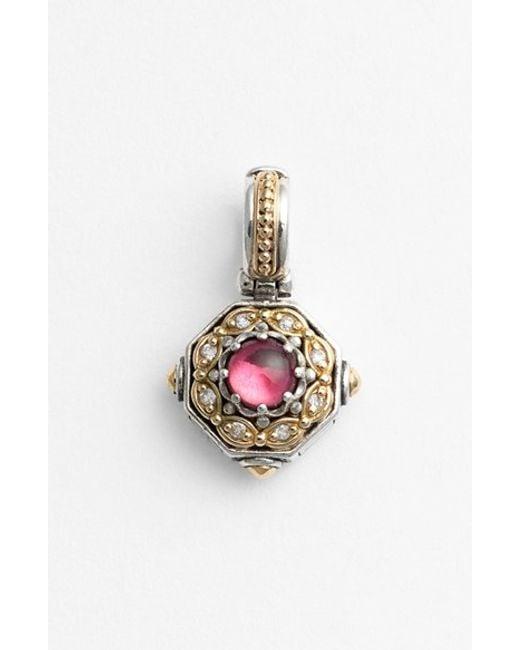 Konstantino | Pink 'hermione' Stone & Diamond Pendant | Lyst