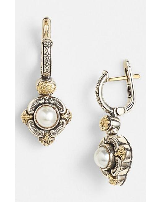 Konstantino | Metallic 'hermione' Pearl Drop Earrings | Lyst
