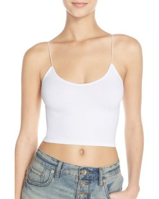 Free People   White Intimately Fp Crop Top   Lyst