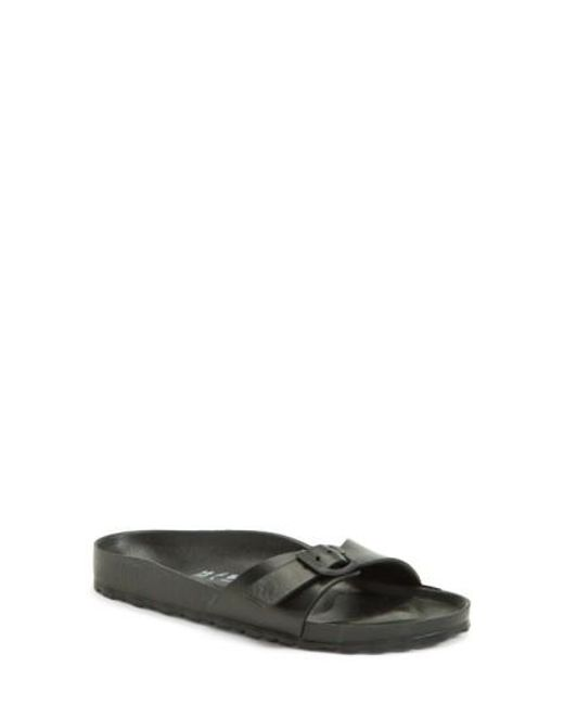 Birkenstock | Black 'essentials - Madrid' Slide Sandal | Lyst