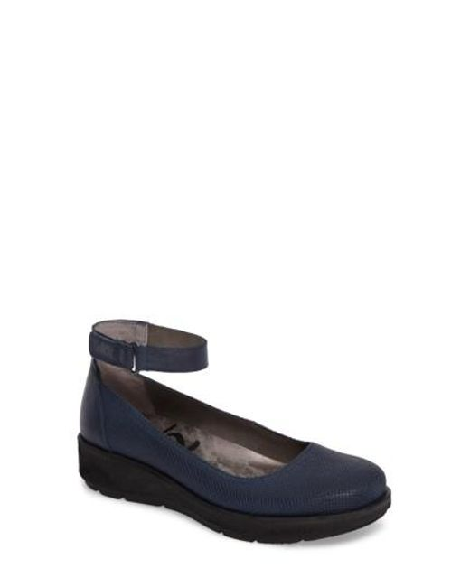Otbt - Blue Scamper Ankle Strap Wedge - Lyst