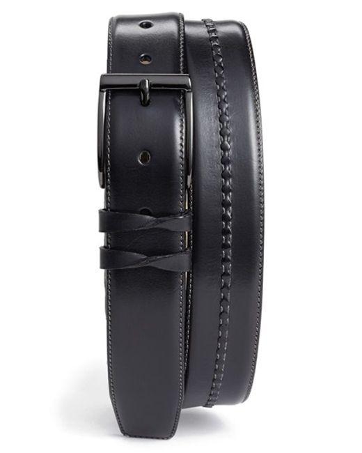 Mezlan | Gray Calfskin Belt for Men | Lyst
