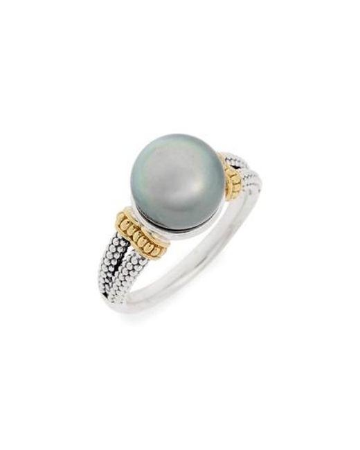 Lagos | White Luna Pearl Ring | Lyst