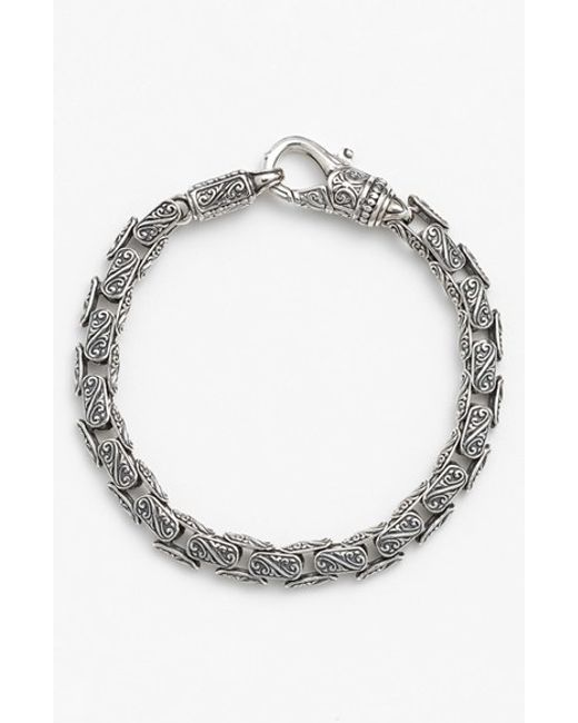 Konstantino | Metallic 'classics' Carved Bracelet for Men | Lyst