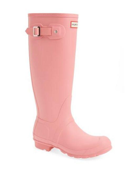 Hunter - Pink 'original Tall' Rain Boot - Lyst
