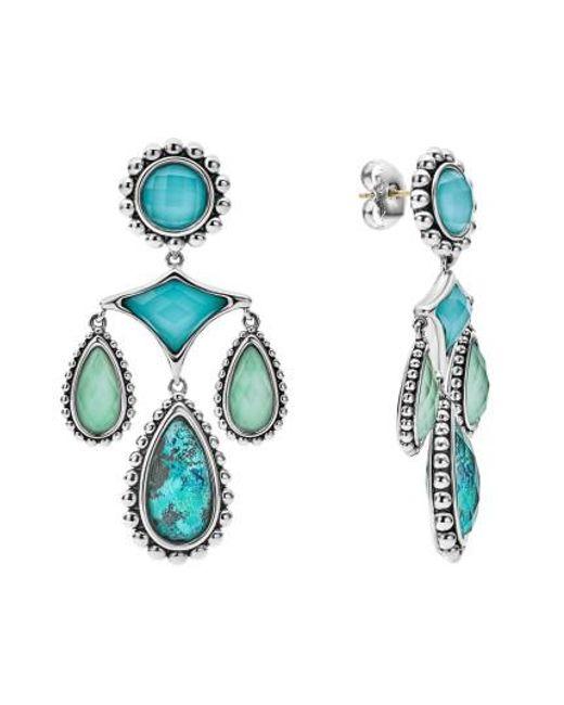 Lagos - Blue Maya Chandelier Earrings - Lyst