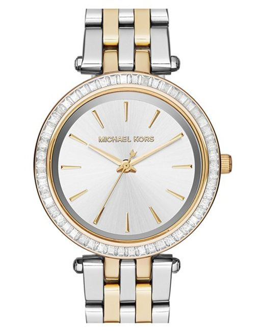 MICHAEL Michael Kors | Metallic Michael Kors 'mini Darci' Round Bracelet Watch | Lyst
