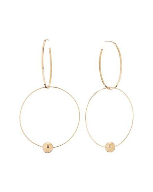 Lana Jewelry - Metallic 14k Yellow Gold Bond Link Hollow Ball Hoop Earrings - Lyst