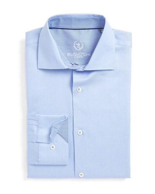 Bugatchi | Blue Trim Fit Solid Dress Shirt for Men | Lyst