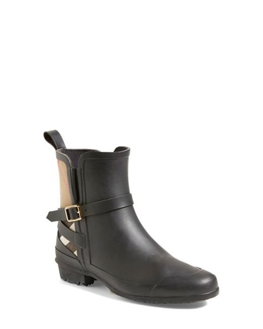 Burberry | Black 'riddlestone' Rain Boot | Lyst