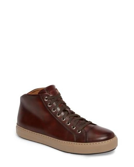 Magnanni Shoes | Brown Kavon High Top Sneaker for Men | Lyst