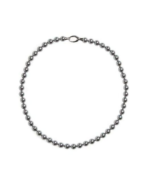 Majorica | Metallic 7mm Round Simulated Pearl Strand Necklace | Lyst