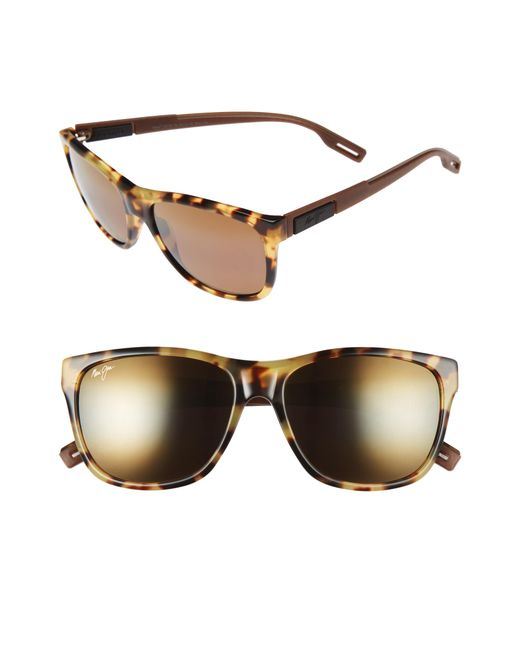 f67e9a7ee6e Maui Jim - Brown Howzit 56mm Polarized Gradient Sunglasses - Tokyo Tortoise  for Men - Lyst