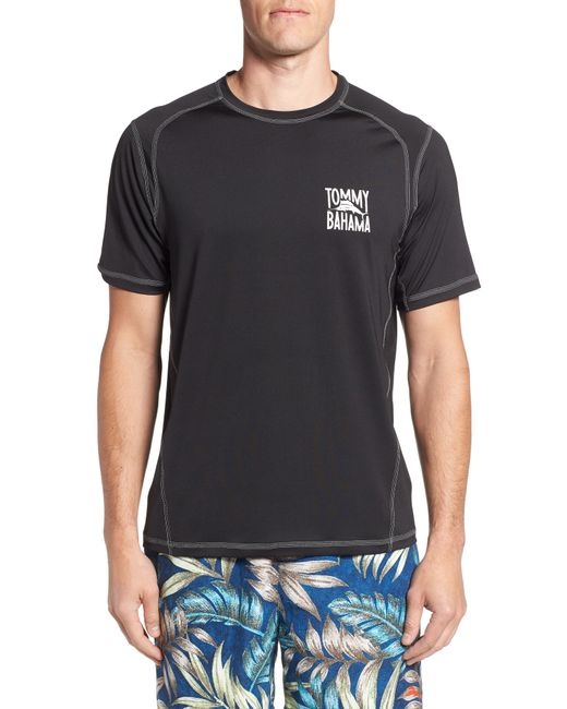 Tommy Bahama - Black Islandactive(tm) Beach Pro Rashguard T-shirt for Men - Lyst