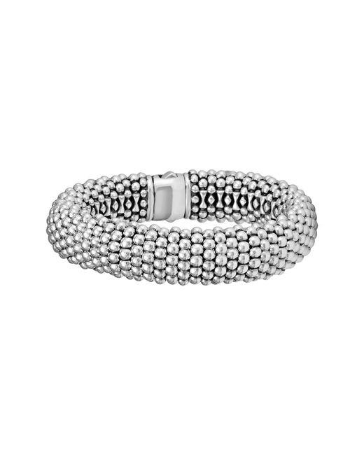 Lagos - Metallic Signature Caviar Wide Rope Bracelet (online Only) - Lyst