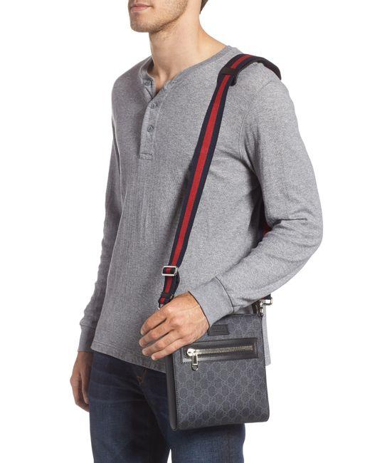 03cb79de91c53c ... Gucci - Black Gg Supreme Travel Bag - None for Men - Lyst