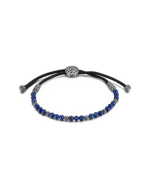 John Hardy   Blue 'classic Chain' Beaded Friendship Bracelet for Men   Lyst