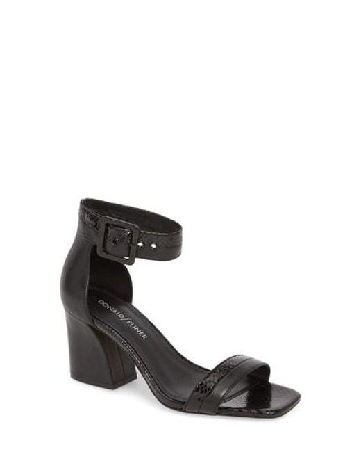 b37dc07418f Lyst - Donald J Pliner Watson Ankle Strap Sandal in Black